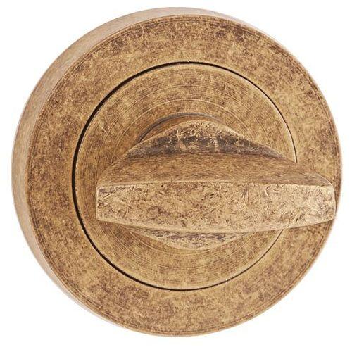 Metalbud Szyld drzwiowy dolny okrągły wc patyna antyczna