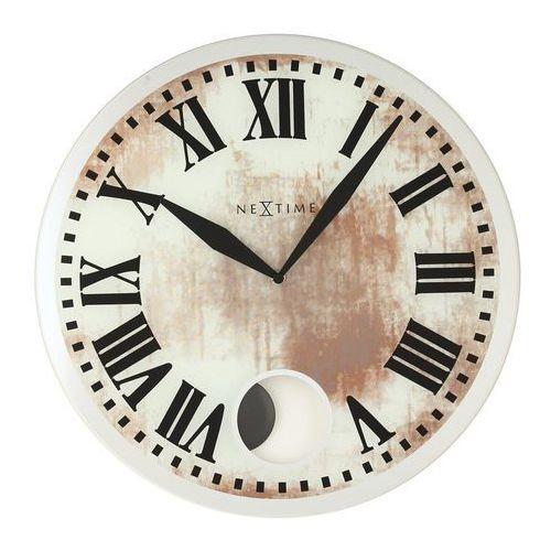 Zegar ścienny z wahadłem romana white marki Nextime