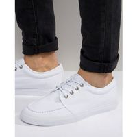 lace up plimsolls in white canvas - white marki Asos