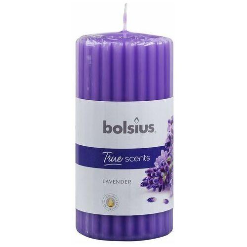 Bolsius Świeca pieńkowa zapachowa true scents lawenda