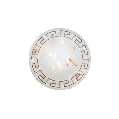 Eglo Plafon twister 82891 lampa oprawa ścienna sufitowa 1x60w e27 biały/brąz