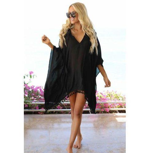 Pareo MIRASOL BLACK, kolor czarny