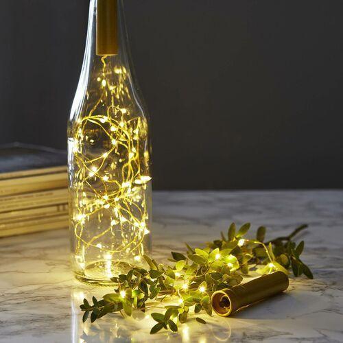 Łańcuch świetlny do butelek Dew Drops 75cm mosiądz