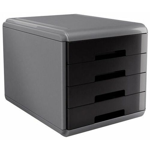 Organizer na dokumenty mydesk 18p4pn, 4 szuflady, szaro-czarny marki Arda