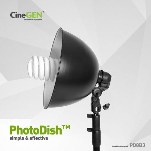 Lampa 85w foto z reflektorem i statywem, photodish™ pd8b2 marki Cinegen