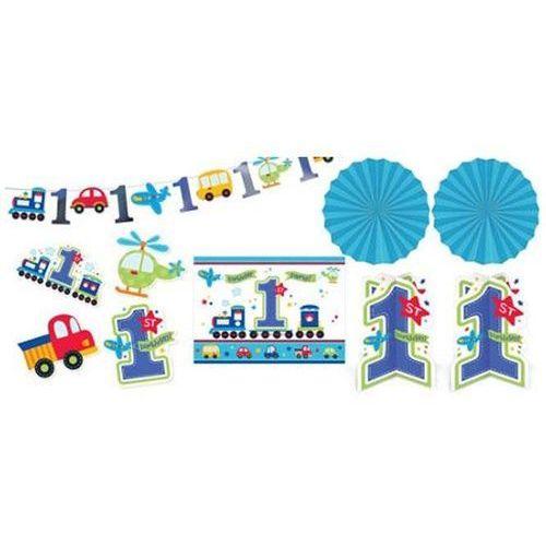 Zestaw dekoracji wiszących Niebieskie Samochodziki - 10 elem.