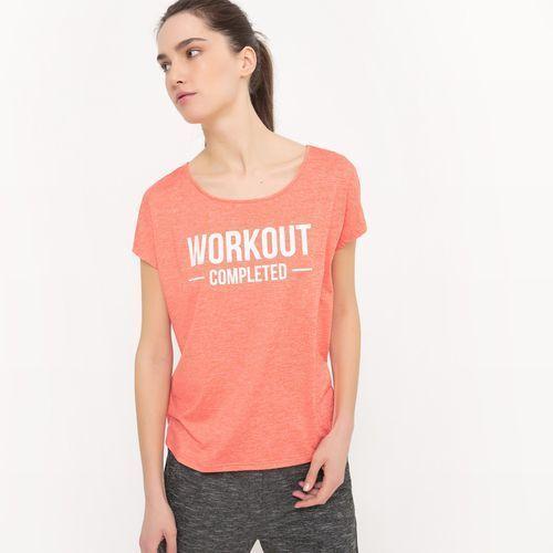 Obszerny t-shirt z napisem, R essentiel
