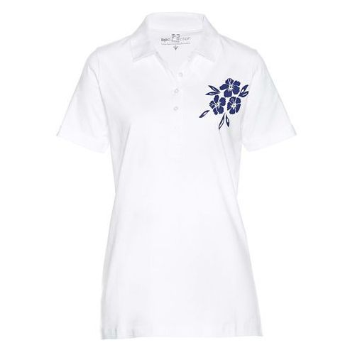 Bonprix Shirt polo biało-niebieski
