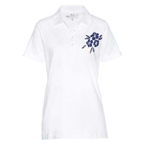Shirt polo biało-niebieski marki Bonprix