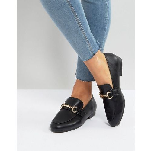 New Look Leather Look Buckle Detail Loafer - Black