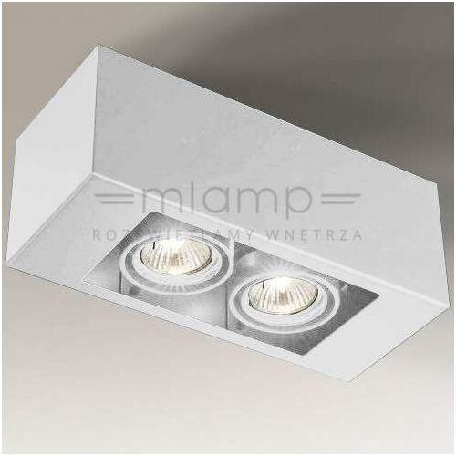 Spot LAMPA sufitowa SETO 7087 Shilo regulowana OPRAWA prostokątna biała (5903689970877)