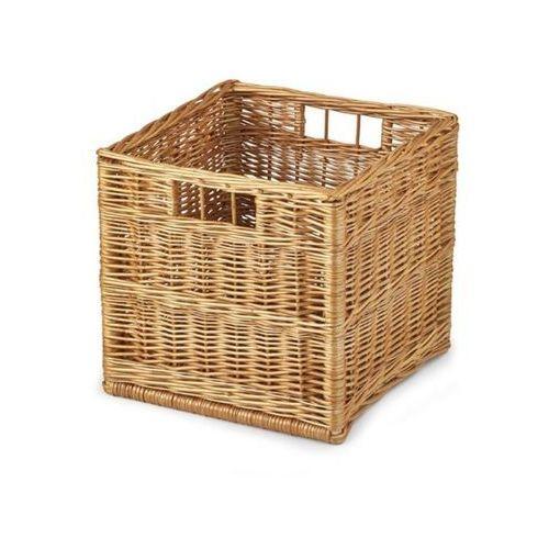 Halmar Wiklinowy kosz szuflada woody do przechowywania - naturalny