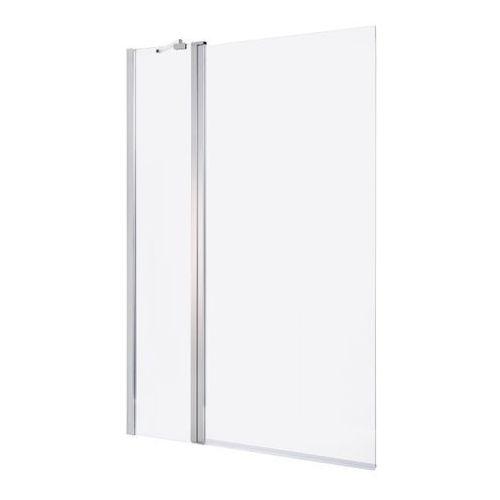 Parawan nawannowy GoodHome Calera 2-częściowy 140 x 105 cm chrom/szkło transparentne, B235