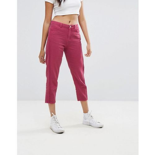 Boohoo cropped jeans - pink