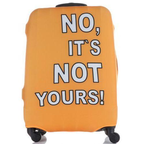 e2156aff54868 Pokrowiec na walizkę firmy w rozmiarze l elastyczny i wytrzymały no is not  yours pomarańcz (