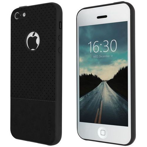 Etui QULT Back Case Drop do iPhone 5/5S/SE Czarny, kolor czarny