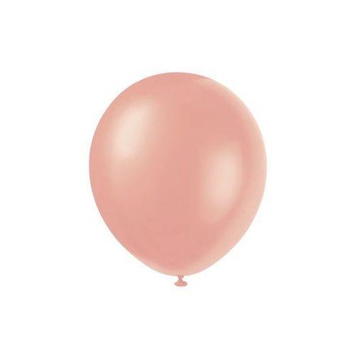 Balony lateksowe perłowe różowe złoto - 30 cm - 8 szt. (0011179800933)