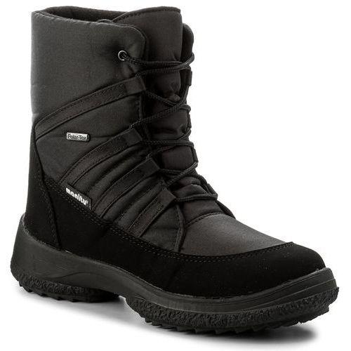 Śniegowce MANITU - 990669 Schwarz 1, kolor czarny
