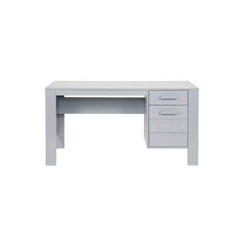 :: biurko dennis 140cm - jasnoszare - jasnoszary marki Woood