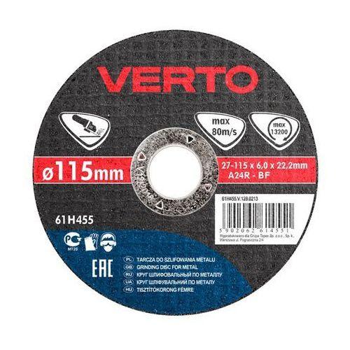 Verto Tarcza do szlifowania 61h455 115 x 6.0 x 22.2 mm do metalu