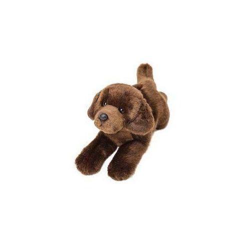 Suki Leżący czekoladowy labrador 30cm