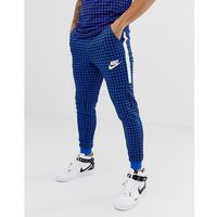 Nike Gingham Check Joggers In Blue BQ0676-480 - Blue, kolor niebieski