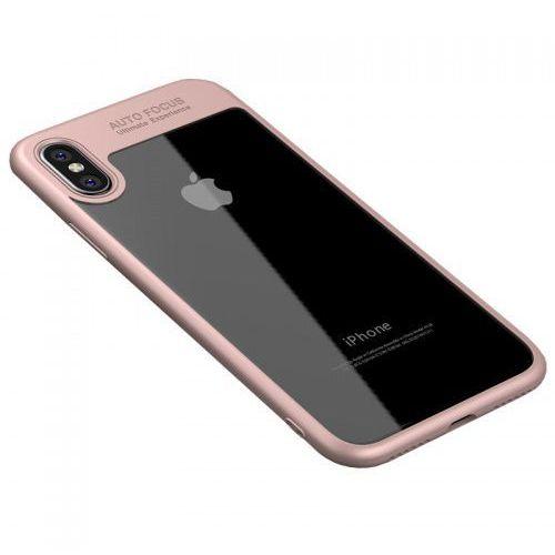 Ipaky Etui z ramką frame iphone xs / x różowe