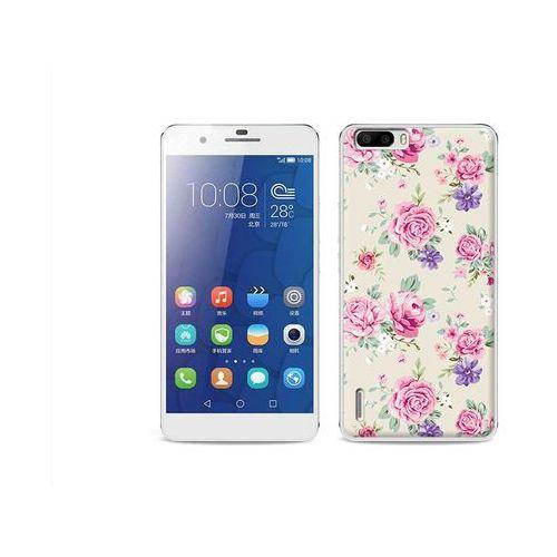 Fantastic Case - Huawei Honor 6 Plus - etui na telefon Fantastic Case - pastelowe różyczki, kup u jednego z partnerów