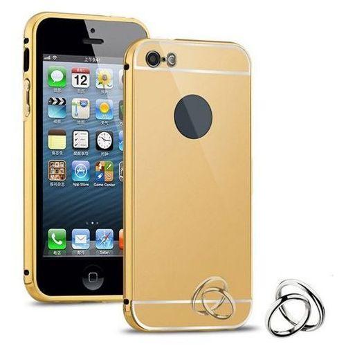 Obudowa Bumper Metal Mirror Case Apple iPhone 5 / 5S / 5SE - Złota - Złoty