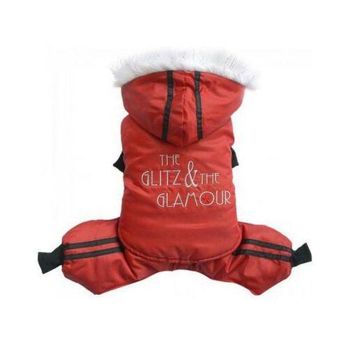 Doggy dolly kombinezon glitz&glamour, czerwony, l 31-33 cm/46-48 cm - darmowa dostawa od 95 zł!