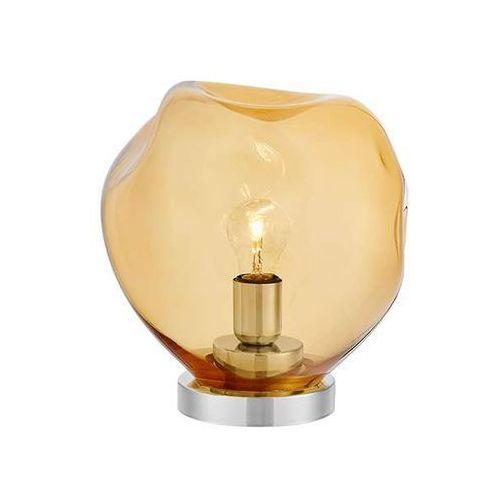 Szklana lampa stołowa avia 40420115 stojąca lampka sypialniana bursztynowa marki Kaspa