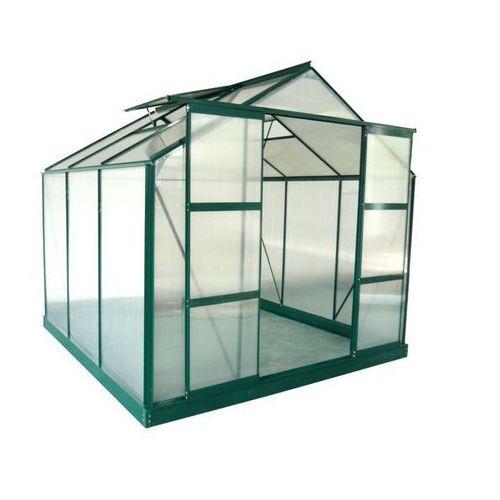 Vente-unique Szklarnia ogrodowa z poliwęglanu o pow. 5,9 m² anissa z podstawą