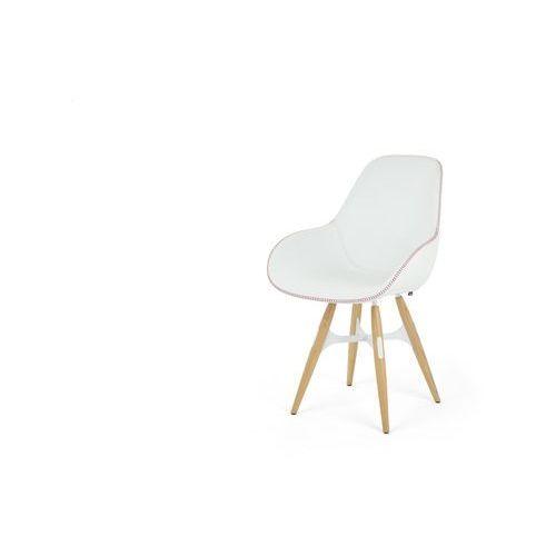 Kubikoff Krzesło ZIGZAG DIMPLE POP skóra zigzagdimplepop-leather, kolor różowy