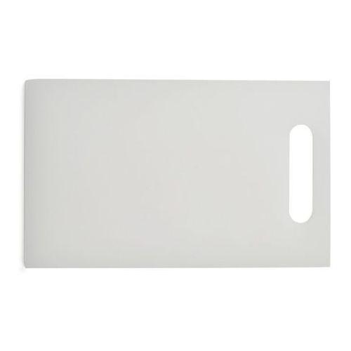 Deska polietylenowa HDPE do krojenia, z uchwytem, biała, wymiary 24,3x14,7x1 cm, XANTIA 78565