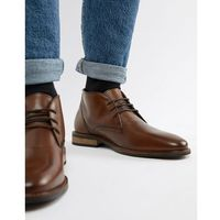 Dune Lace Up Boots In Brown Leather - Brown
