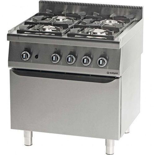 Kuchnia gazowa 4 palnikowa wym. 800x700x850 z piekarnikiem gazowym 24+5 kW- G30/31 (propan-butan)