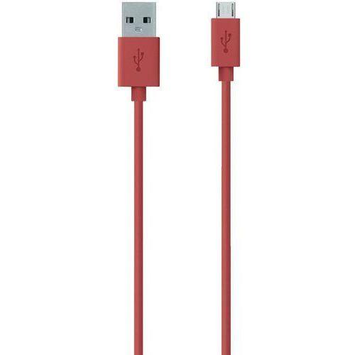 Kabel usb 2.0  f2cu012bt2m-red f2cu012bt2m-red, [1x złącze męskie usb 2.0 a - 1x złącze męskie micro-usb 2.0 b], 2 m, czerwony marki Belkin