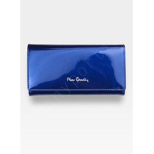 7221f5ff8191 Pierre cardin Portfel damski skórzany niebieski w liście 114