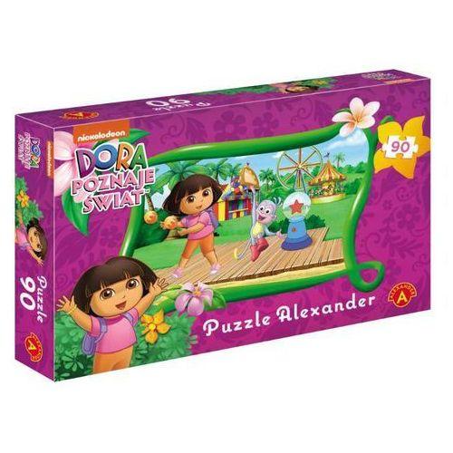 Puzzle 90 Dora poznaje świat Wesołe miasteczko (5906018010992)