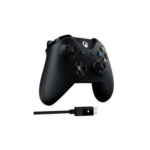 Gamepad Microsoft Xbox One + kabel pro Windows (4N6-00002) Czarny