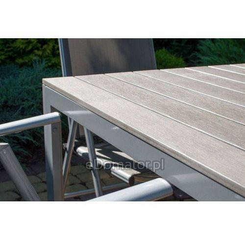 Edomator.pl Stół ogrodowy aluminiowy modena - srebrny - srebrny