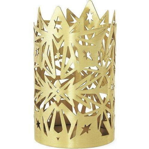 Świecznik karen blixen 16 cm złoty (5709513323587)