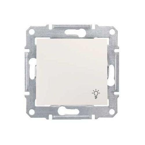 """Sedna przycisk """"światło"""" Schneider podtynkowy pojedynczy bez ramki kremowy SDN0900123 (8690495033052)"""