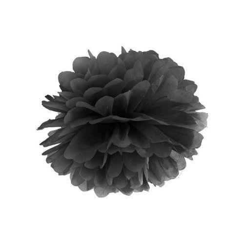 Twojestroje.pl Pompon bibułowy czarny 35cm 1szt