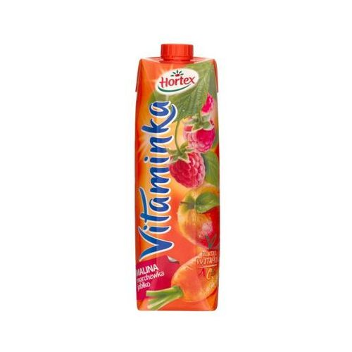 Hortex 1l vitaminka malina marchewka jabłko sok
