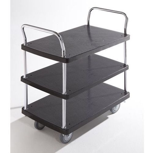 Seco Wózek serwisowy, 3 piętra, 2 pałąk, nośność 280 kg. solidne powierzchnie ładunko