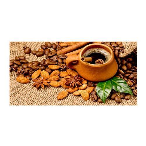 Foto-obraz szklany Ziarna kawy i kubek