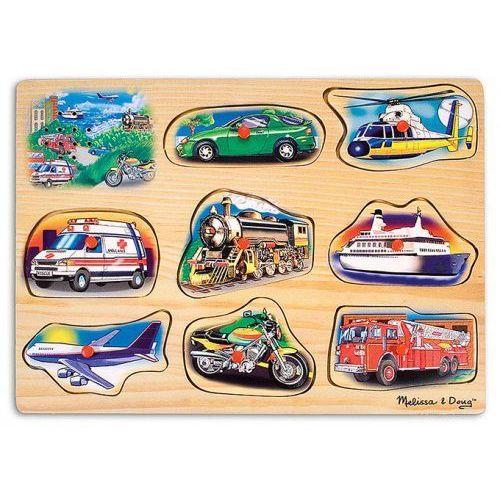 Drewniana układanka z dźwiękiem- pojazdy melissa&doug marki Melissa & doug