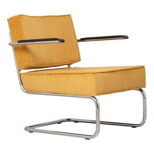 krzesło lounge ridge rib arm żółte 3100019 marki Zuiver