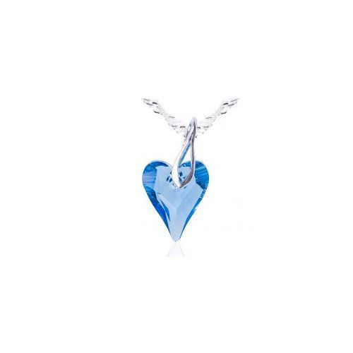 Swarovski crystals Wisiorek dzikie serce, błękit